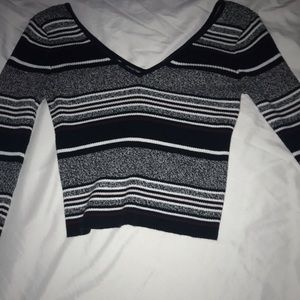 pacsun stripes ribbed long sleeve